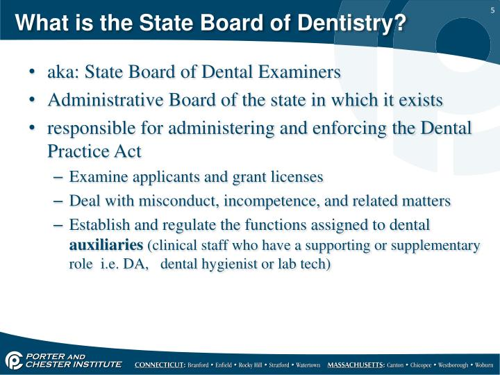 What is the State Board of Dentistry?