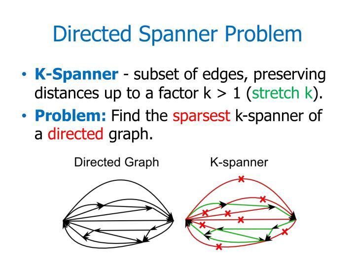 Directed spanner problem