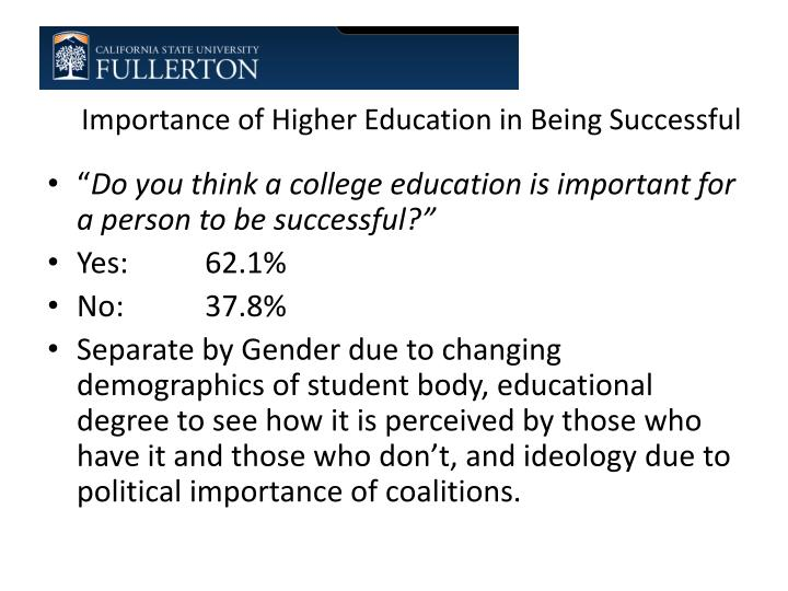 Importance of Higher Education in Being Successful