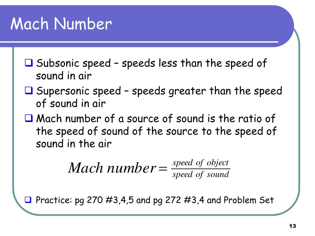 PPT - Speed of Sound PowerPoint Presentation - ID:2930200