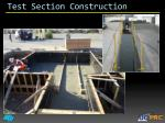 test section construction1