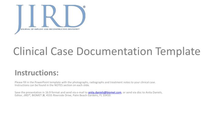 Ppt Clinical Case Documentation Template Powerpoint