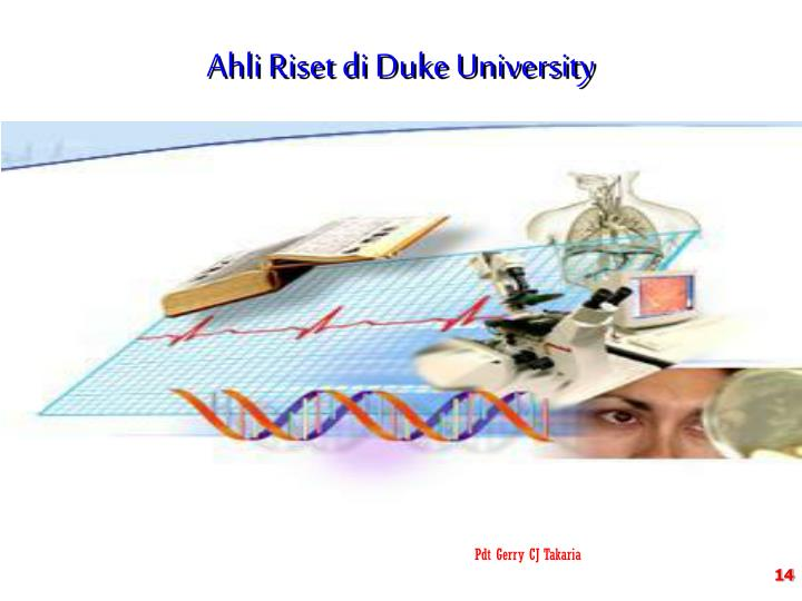 Ahli Riset di Duke University