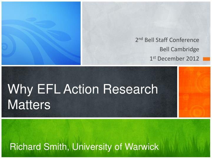 why efl action research matters n.