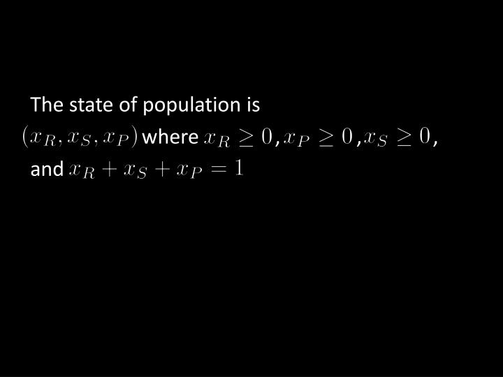 The state of population is