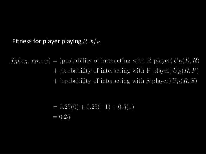Fitness for player playing     is