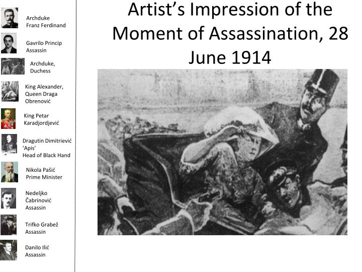 Artist's Impression of the Moment of Assassination, 28 June 1914