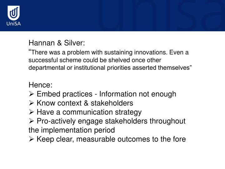Hannan & Silver: