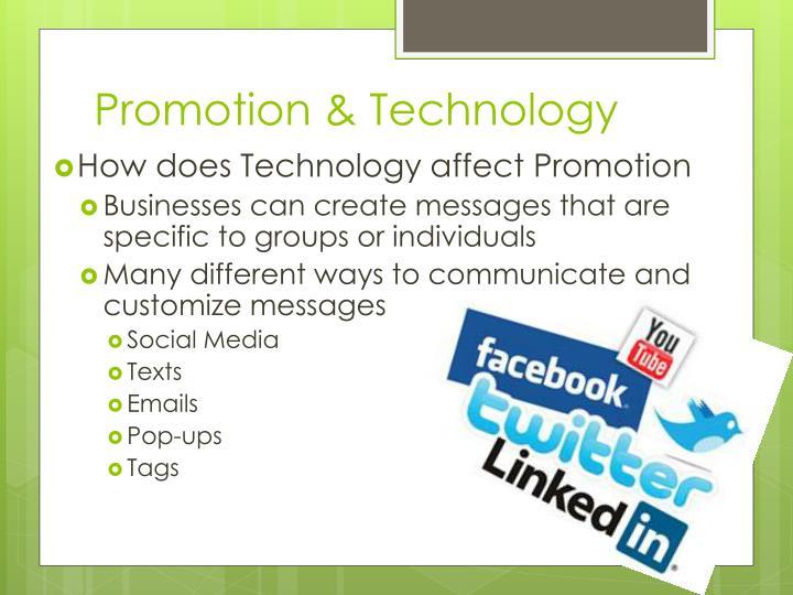 Promotion & Technology