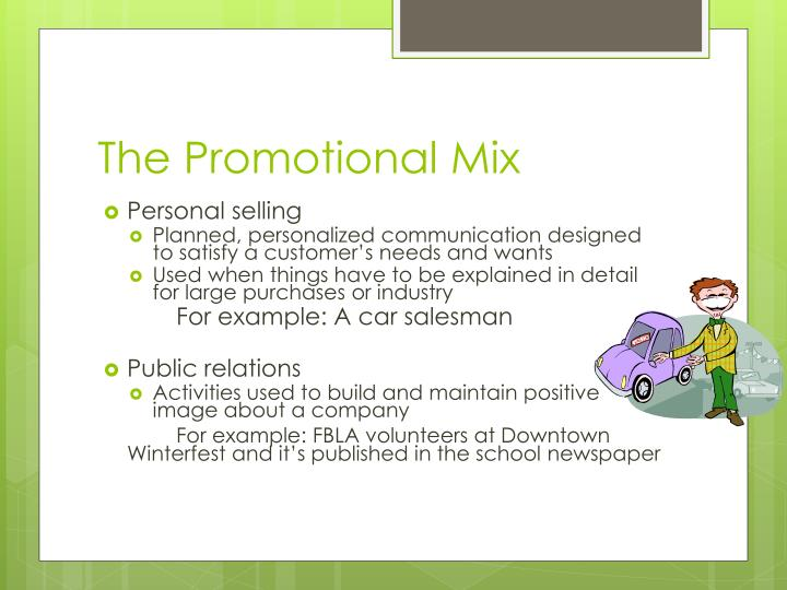 The Promotional Mix