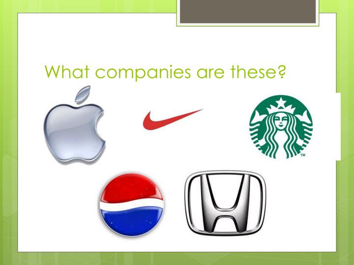 What companies are these?