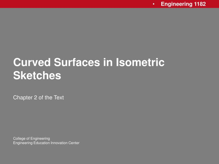 Curved surfaces in isometric sketches