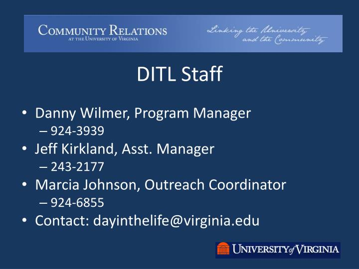 DITL Staff