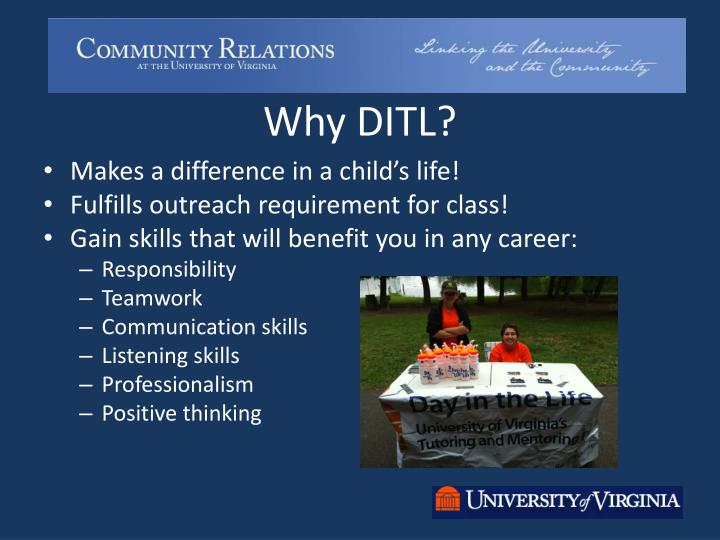 Why DITL?