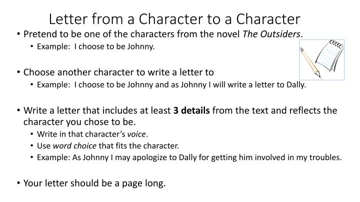 Letter Of Character Example from image1.slideserve.com