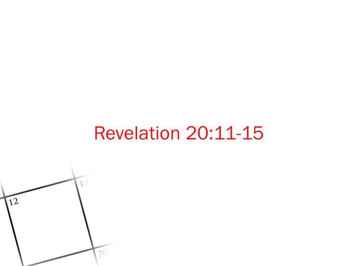 Revelation 20:11-15