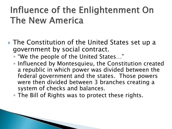 the impact of the enlightenment on Although the great awakening was a reaction against the enlightenment a very nice overview of the great awakening and its impact on america.