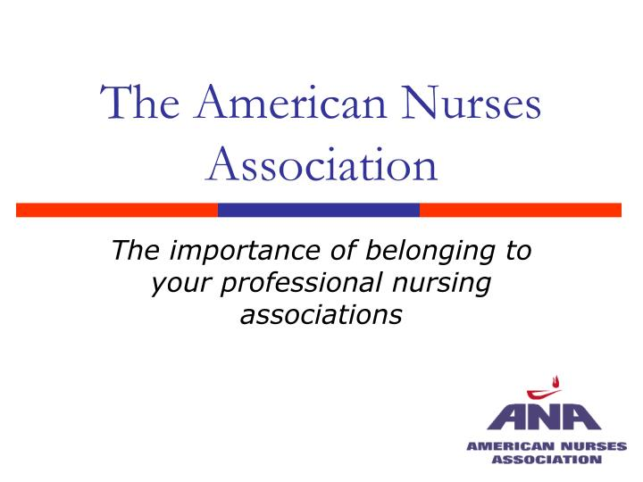 american nurses association 2 essay The american nurses association code of ethics essay - the american nurses association (ana) is an organization with a strong ethical foundation nurses in general are known as an honest and trustworthy profession in the united states.