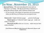 do now november 25 2013