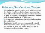 holocaust anti semitism zionism