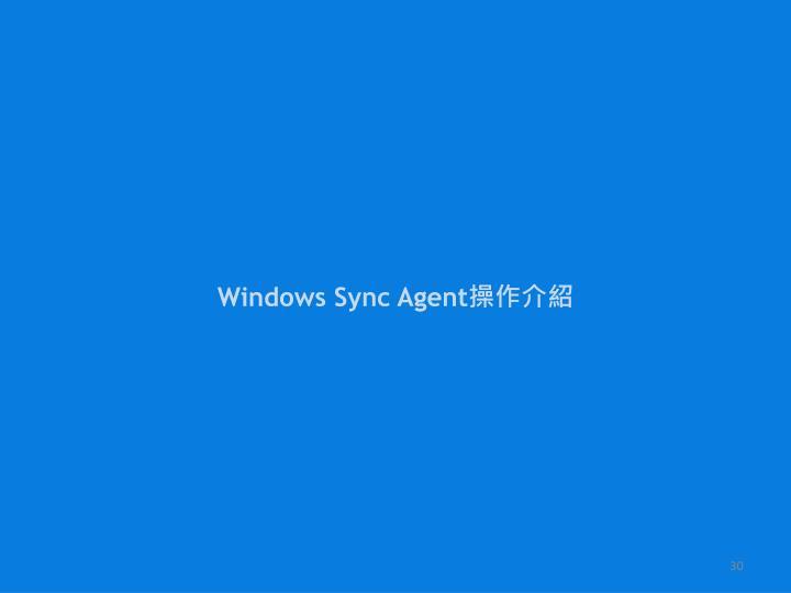 Windows Sync Agent