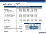 valuation dcf