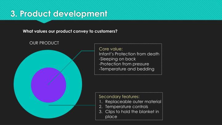 3. Product development