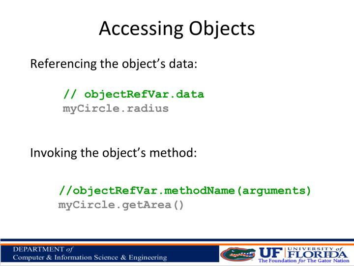 Accessing Objects