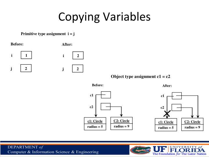 Copying Variables