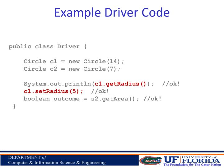 Example Driver Code