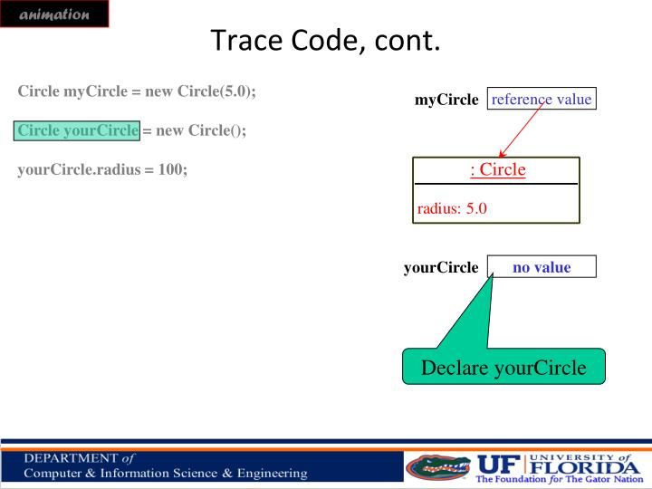 Trace Code, cont.