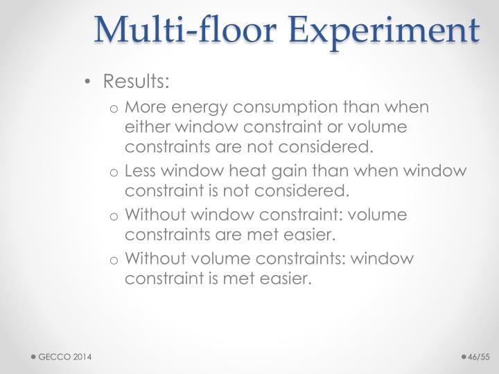 Multi-floor Experiment