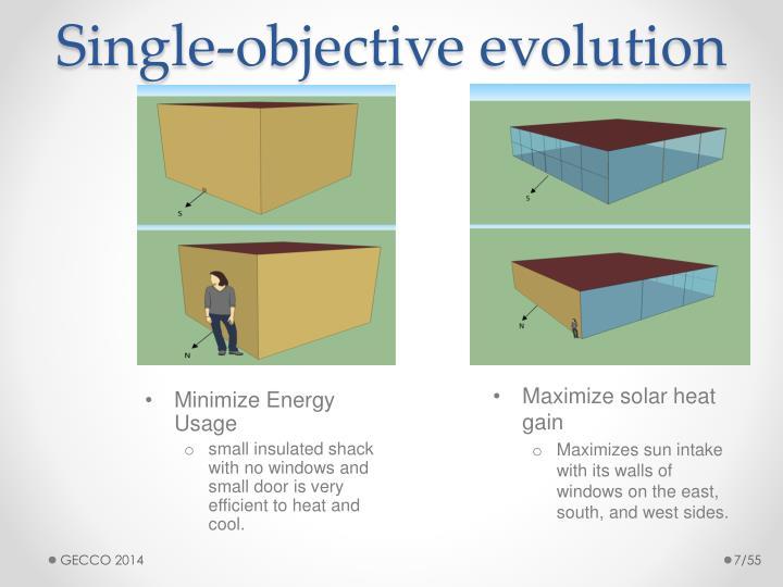 Single-objective evolution