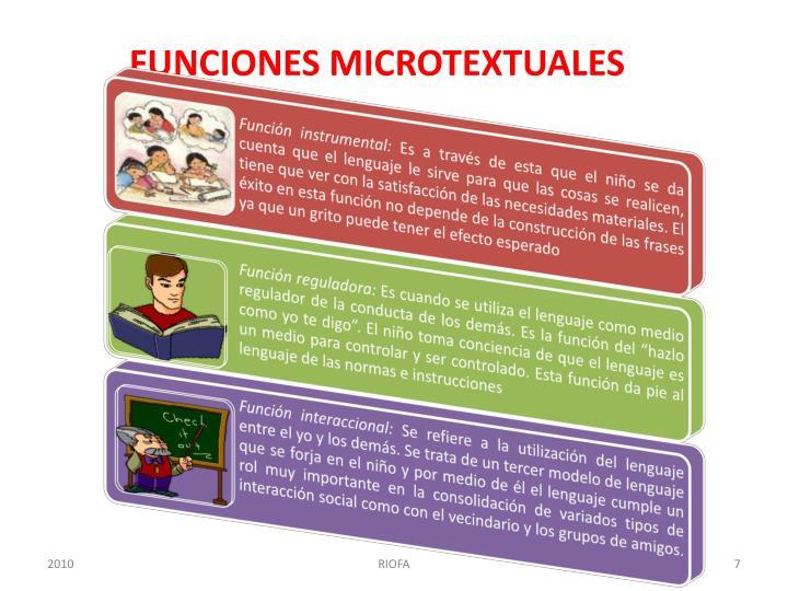 FUNCIONES MICROTEXTUALES
