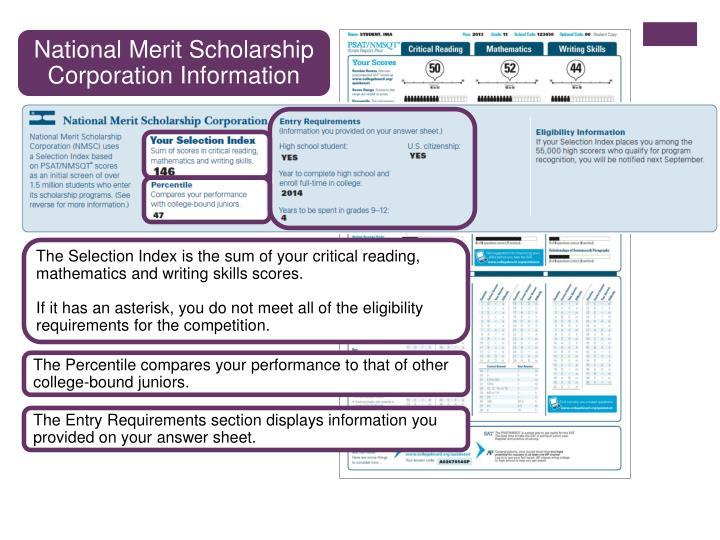 National Merit Scholarship Corporation Information