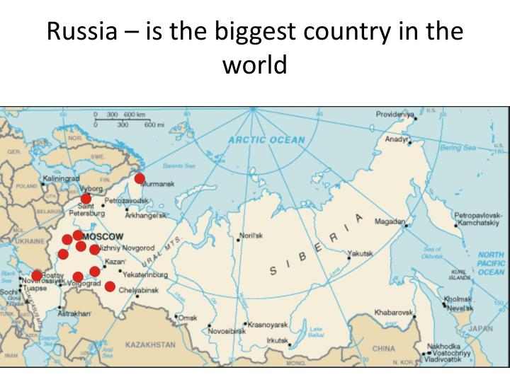 PPT Russia â Is The Biggest Country In The World PowerPoint - What is the biggest country in the world