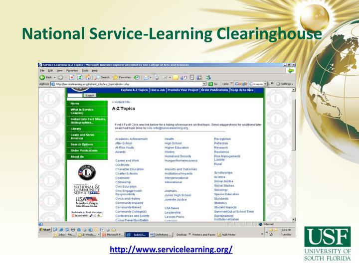 Learn and Serve America NSLC