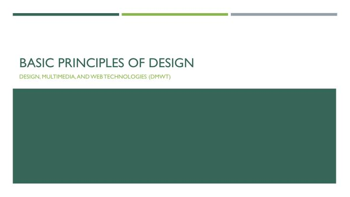 basic principles of design n.