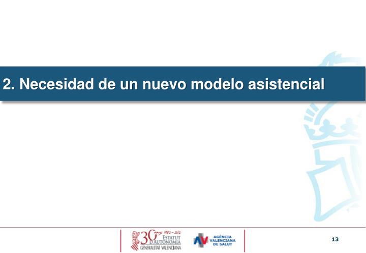 2. Necesidad de un nuevo modelo asistencial