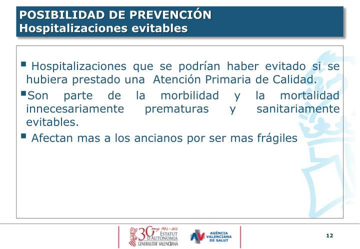 POSIBILIDAD DE PREVENCIÓN