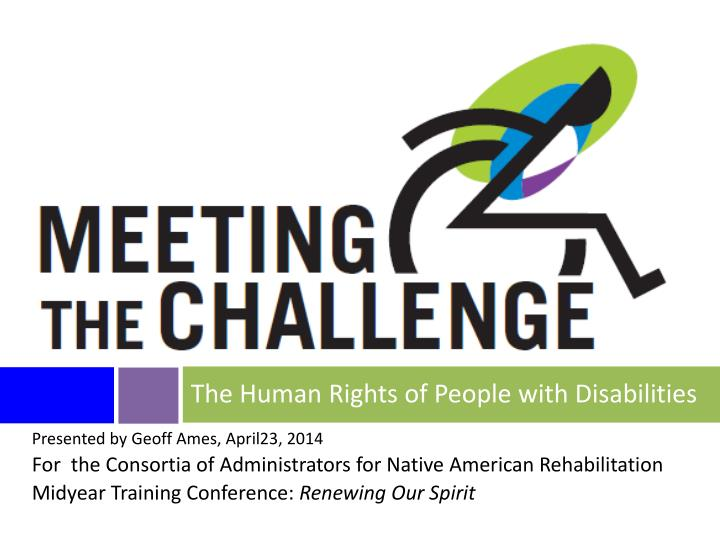 the human rights of people with disabilities n.