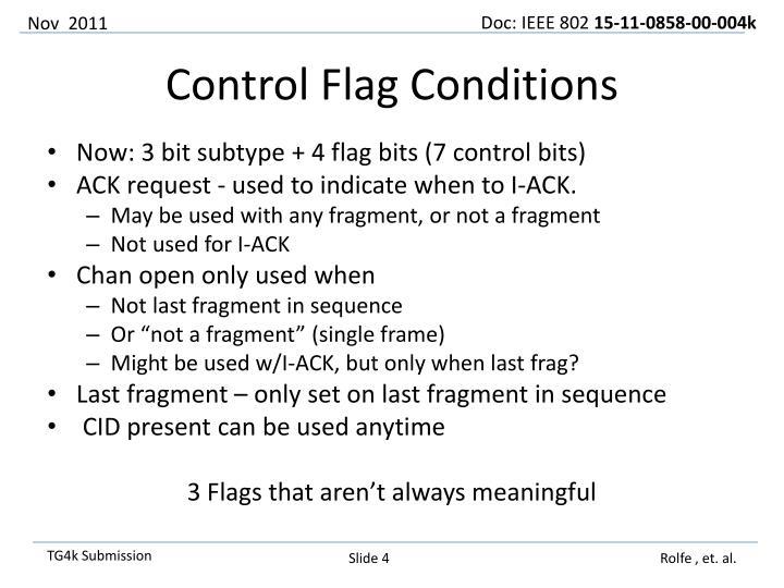 Now: 3 bit subtype + 4 flag bits (7 control bits)