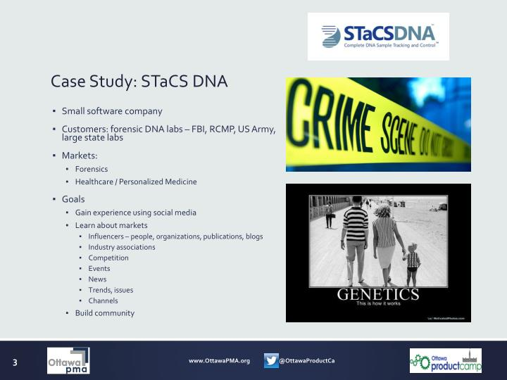 Case study stacs dna
