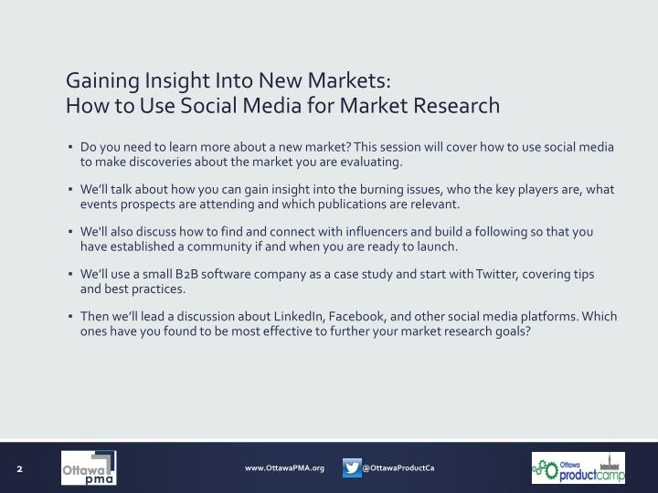 Gaining insight into new markets how to use social media for market research