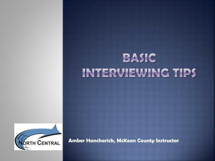 basic interviewing tips n.