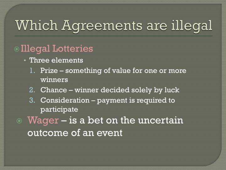 Which agreements are illegal1