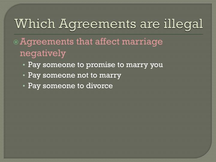 Which Agreements are illegal