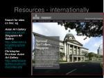 resources internationally