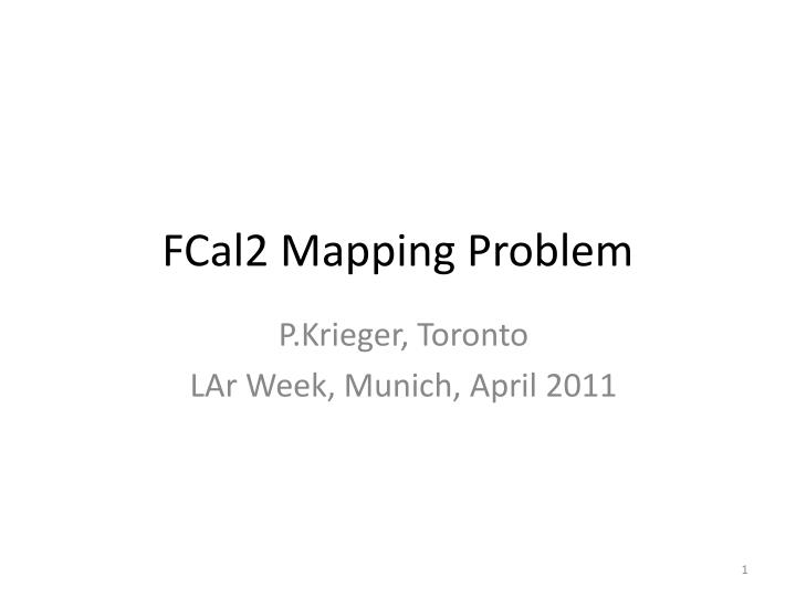fcal2 mapping problem n.