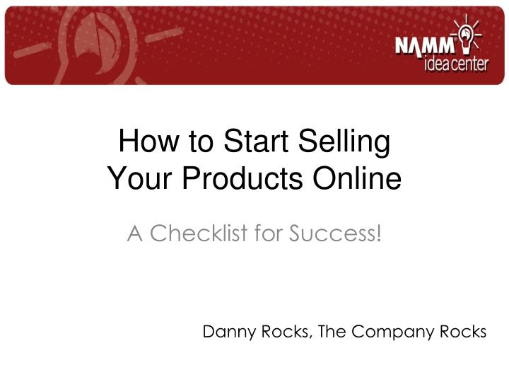 how to start selling your products online